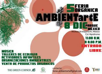 Quinta feria organica AMBIENTartE, el proximo 8 de diciembre, 2007