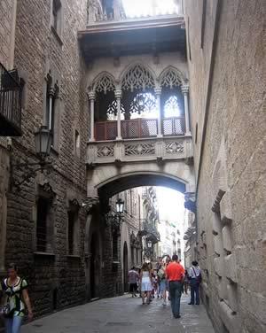 Barrio gótico de la ciudad de Barcelona
