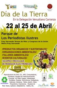 cCartel del día de la Tierra en la Delegación Venustiano Carranza, México, D.F.