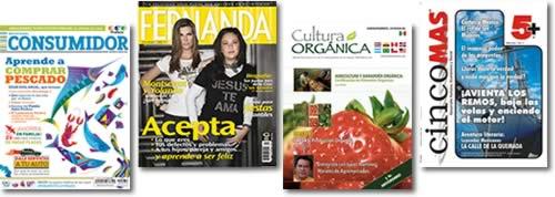 Revista del Consumidor (Profeco), Revista Fernanda, Revista Cultura Orgánica, Revista Cinco Mas