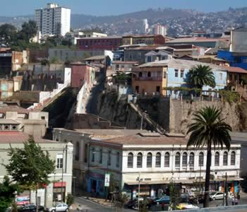 Panorámica de la ciudad chilena de Valparaiso