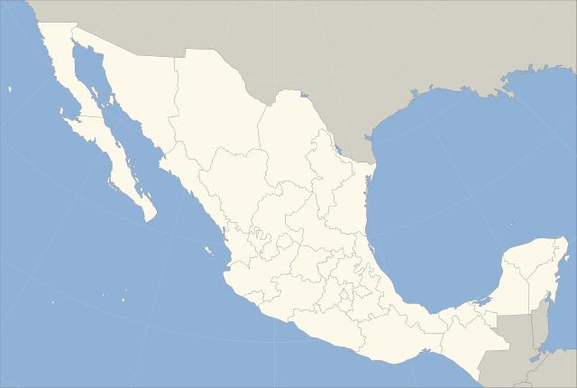 mapa republica mexicana con division politica sin nombres