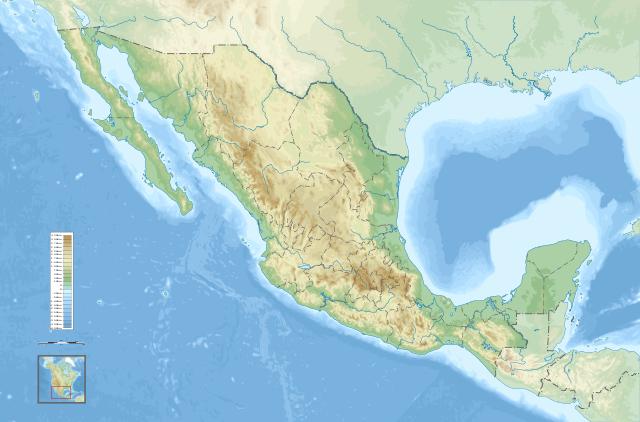 mapa de mexico con division politica: mapa topografico de la republica mexicana sin nombres